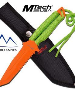 orange mtech fixed blade
