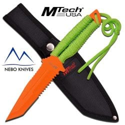 orange mtech fixed blade