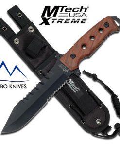 MTech xtreme wood handle bowie