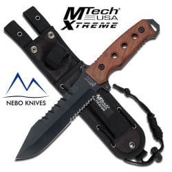 MTech xtreme wood handle bowie