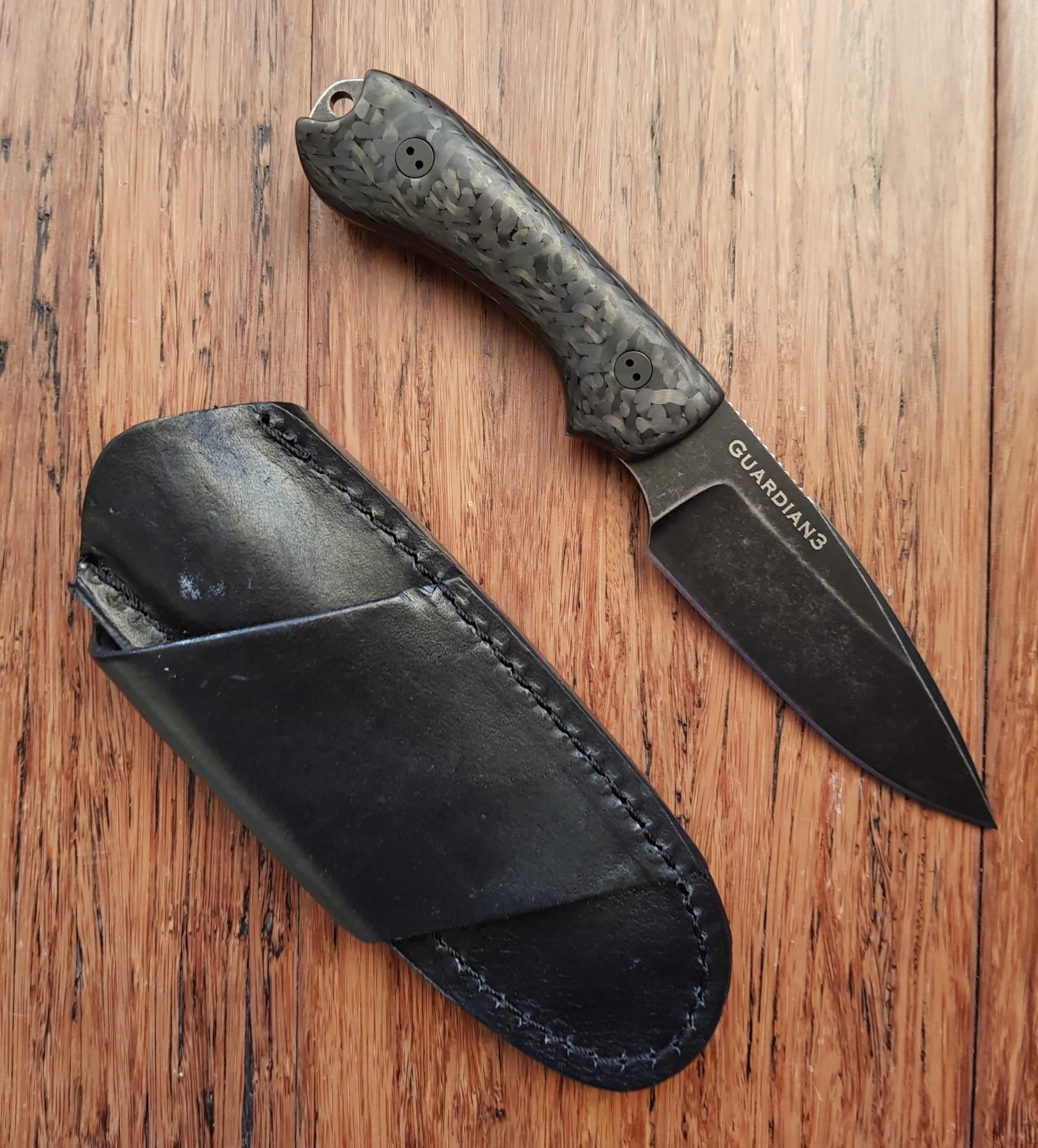 Bradford Knives Guardian 3 3D Black Micarta N690 False Edge Come and Take It