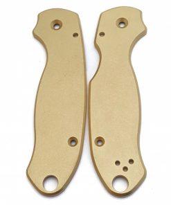 Flytanium Spyderco Para 3 Brass scales