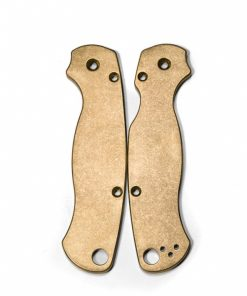 Flytanium Spyderco Para 2 Brass scales