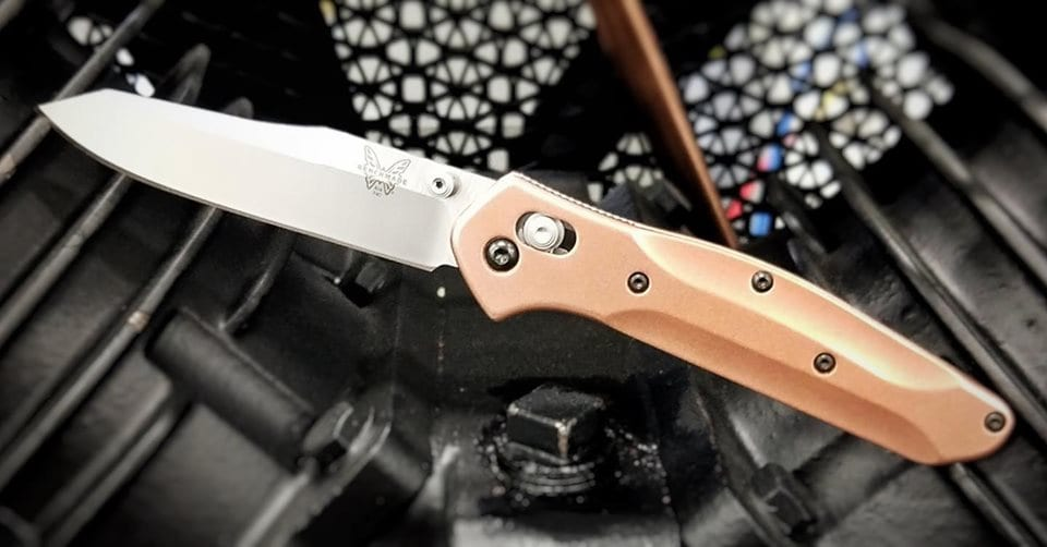 Flytanium Benchmade Osborne 940 Brass Replacement Scales & Hardware FLY940B